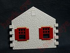 Plasticville Cape Cod House Side Piece White with Red Windows O-S Scale