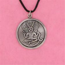 ENGLISH PEWTER - CERNUNNOS - PENDANT NECKLACE HORNED GOD PAGAN GOTHIC