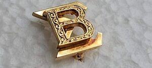 BETA SIGMA 10k YELLOW GOLD PIN; ANTIQUE