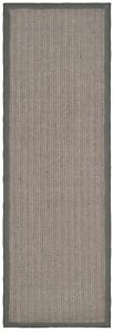 "Safavieh Natural Fiber Grey Brown / Grey Sisal Runner 2' 6"" x 20'"