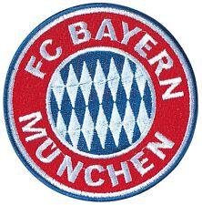 FC BAYERN MÜNCHEN Aufnäher Logo Wappen 8cm Deutscher Meister FCB Aufbügler 20550