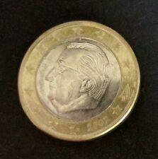 1 Euro-Münze Belgien Prägejahr 2002 aus Umlauf Sammlerstück