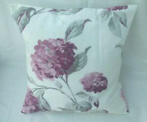 "Laura Ashley Designer Cushion Cover ""HYDRANGEA"" BERRY Fabric Various Sizes"