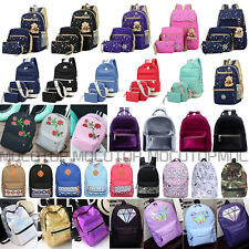 Womens Girls Canvas Backpack Laptop Mini Rucksacks Shoulder School Bags Satchel