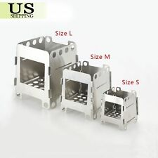 Outdoor Camping Cooking Stainless Folding Wood Stove Pocket Alcohol Stove M Size