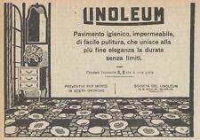 Z1518 Pavimento igienico LINOLEUM - Pubblicità d'epoca - 1925 Old advertising
