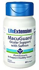 MacuGuard Ocular Support with Saffron Vision 60 Softgels Life Extension Buy Bulk