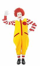Childs Age 10-12 Ronald Clown McDonald Costume Fast Food Fancy Dress