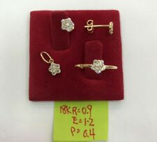 Gold Authentic 18k gold earrings, pendant & ring size 6