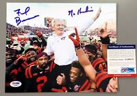 FRANK BEAMER SIGNED VIRGINIA TECH HOKIES FINAL GAME 8X10 PHOTO PSA/DNA COA