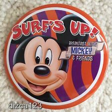 Disney Button Dining Surf's Up with Mickey & Friends Disneyland -Paradise Pier