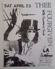 THEE FOURGIVEN/Celebrity Skin Original Concert Flyer 1988 Garage Gizmos Germs