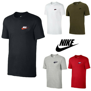 Nike Men's T-Shirt Athletic Active Wear Crew Neck Dry Fit Swoosh Futura Logo Tee