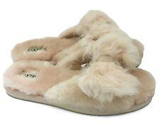 UGG Mirabelle Womens Genuine Shearling Amber Light Fluffy Slide Slippers NEW