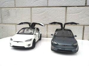 1/18 Tesla Model X P100D SUV Diecast Model Car Kids Toys Gift Display Collection