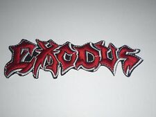 EXODUS THRASH METAL IRON ON EMBROIDERED PATCH