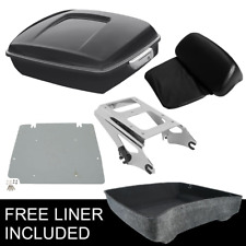 Chopped Pack Trunk Backrest Rack & Plate For Harley Tour Pak Touring Glide 09-13