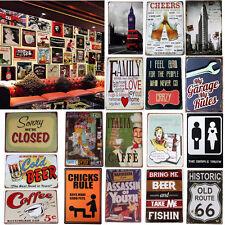 Vintage Metal Tin Sign Plaque Art Wall Decor Bar Pub Cafe Beer Retro 20*30cm
