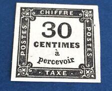 France Taxe N°6 .30 C Noir NSG  Fraîcheur Et État Superbe TTB Cote 350€