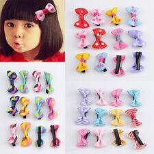 New 12PCS Toddler cute Girl Hair Clip Ribbon Bow Baby Kids Bowknot Headband Gift