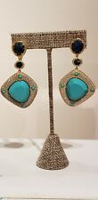 Genuine Turquouse And vermeil Drop Earrings