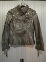 Stefanel Leather Jacket Size 38 Women's Jacket Leather Jacket  UK size 8