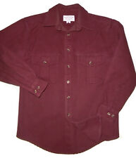 CC FILSON Button Up Shirt BRICK RED Rust L/S HEAVY Hunting Cotton Mens : MD