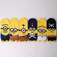 THEME MINIONS CARTOON SOCKS 6 pairs=1 pack women girl cute MADE IN KOREA socks