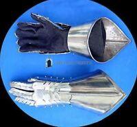 Guanti d'arme Mittene in metallo snodabili versione corta