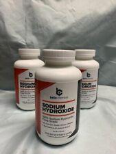 Sodium Hydroxide (100%) Food Grade Caustic Soda, Lye 2lb jar (Lot of 3)
