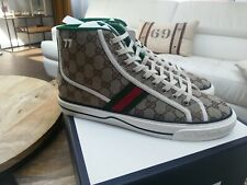 Gucci High Top Beige Tennis 1977 Sneakers New FW20