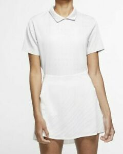NWT Nike Women's Dri-Fit Ace Jacquard Golf Polo Size Small CK5846-100 Retail $75