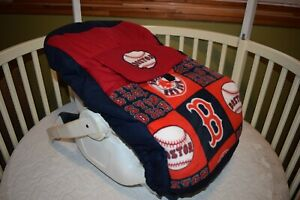 NEW CAR SEAT CARRIER COVER M/W BOSTON RED SOX FABRIC