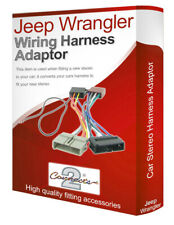 Jeep Wrangler CD radio stereo wiring harness adapter lead ISO converter
