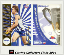 2006 Select AFL Champions Draft Rookie PRC9 Andrew Swallow  + Predictor Nth Melb