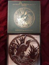 Audubon Snowy Egret Trivet Silverplated Godinger Certificate of Authenticity Box