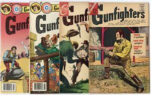 Gunfighters #51 - 60, 66, 74, 75, 80 avg. VF/NM 9.0  Charlton  1966  No Reserve