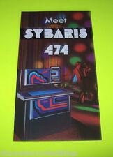 474 Sybaris By ROCK OLA 1978 ORIG JUKEBOX PHONOGRAPH MINI PROMO SALES FLYER