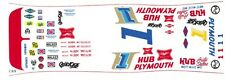 #1 Norm Nelson - Roger McCluskey Plymouth Superbird 1/32nd Scale Slot Car Decals