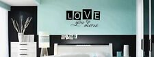 LOVE YOU MORE Home Bedroom Vinyl Wall Decal Lettering Words Art Decor Design