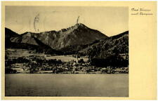Bad Wiessee 1934 dt. Reich tarjeta postal vista a distancia con kampende Alpes panorama