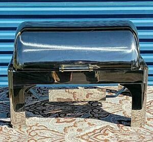 Vollrath 46255 9 Qt. New York Retractable Rectangular Stainless Steel Chafer