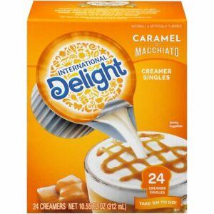 International Delight Coffee Creamer Liquid Singles Caramel Macchiato WORLD SHIP