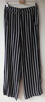 ZERRES DESIGN TROUSERS relaxed fit striped straight viscose EU38 UK10 Short