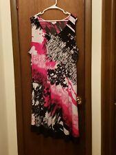 Avenue Multicolored Ladies Sleeveless Sheath Dress, 26/28