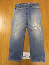 destroyed levi feather grunge 501 jean tag 42x34 meas 37x31 20763F