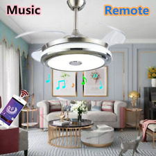 """42"""" Led Invisible Ceiling Fan Light Dining Room Chandelier Lamp/Remote"""