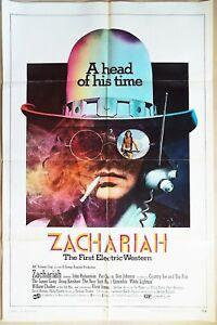 Zachariah 1971 musical drug cowboy western Original US One Sheet Poster