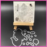 "The Friendly Hedgehog/"" Rubber Stamp Docrafts 907122  /""Santoro"
