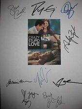 Crazy Stupid Love Signed Film Script X9 Ryan Gosling Emma Stone Steve Carell RPT